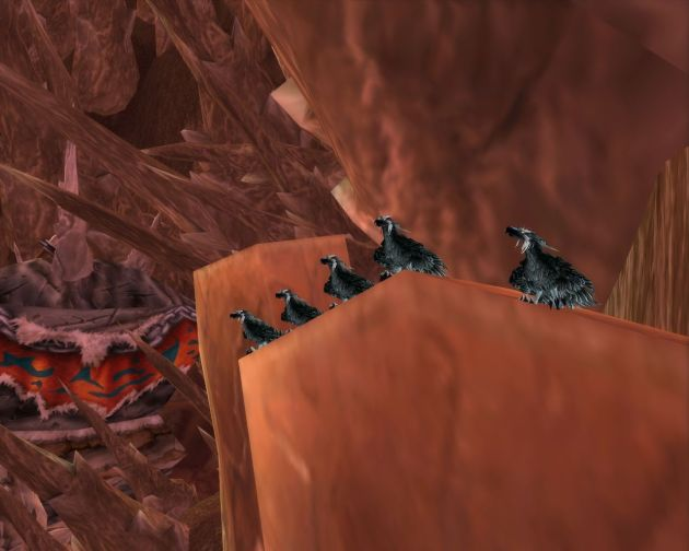 Druids in bird form, Grulls lair